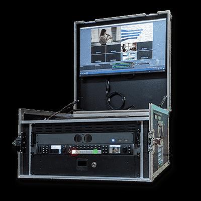 Streaming-Case mit Monitor im Deckel