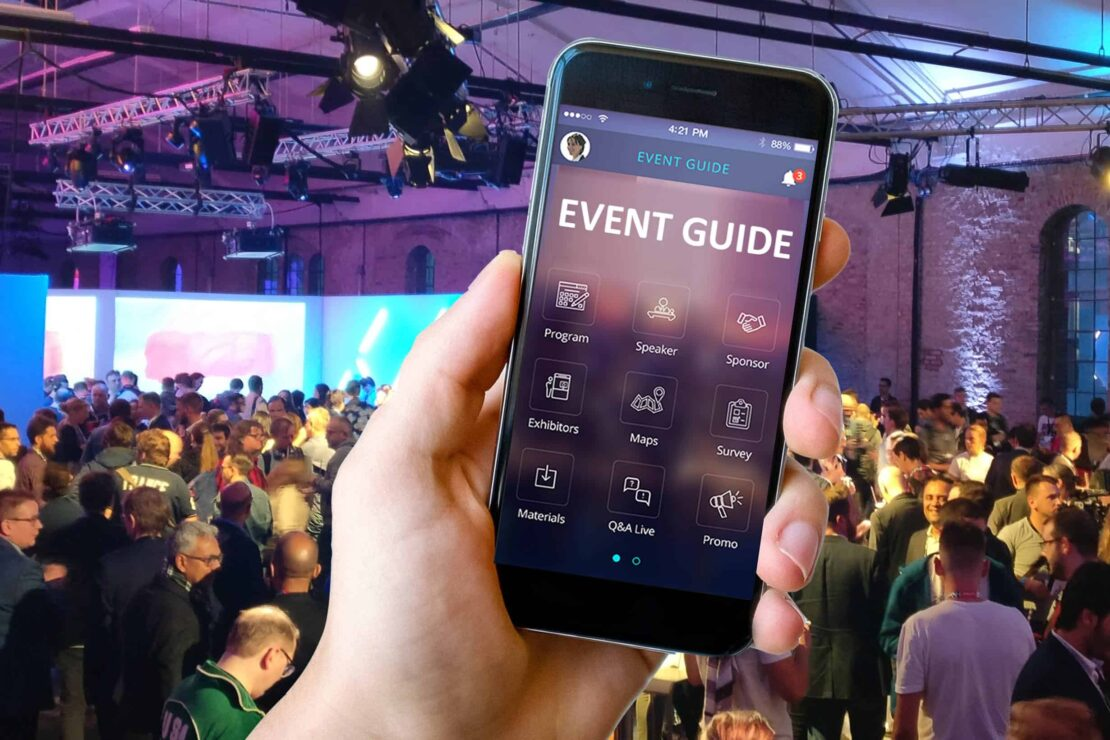 Event-App auf Smartphone