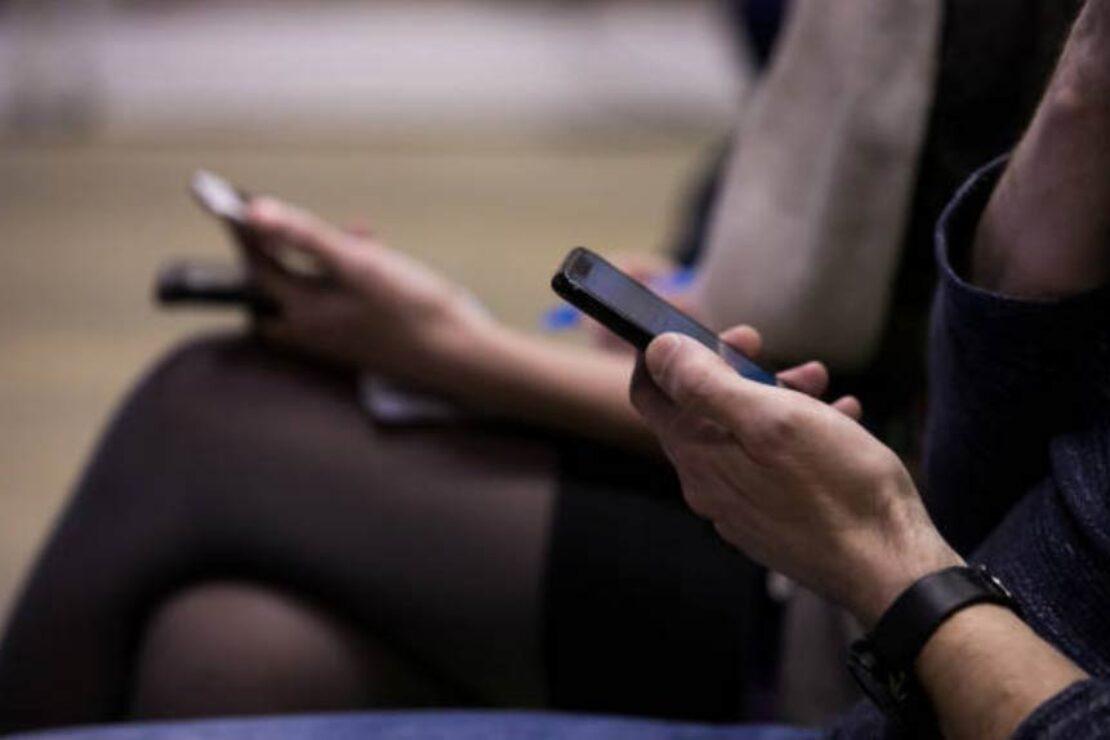Plublikum mit Smartphones