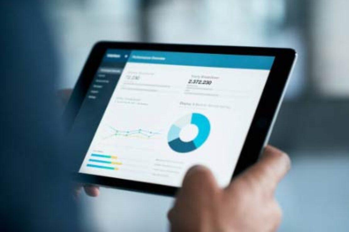 Statistiken auf einem Tablet