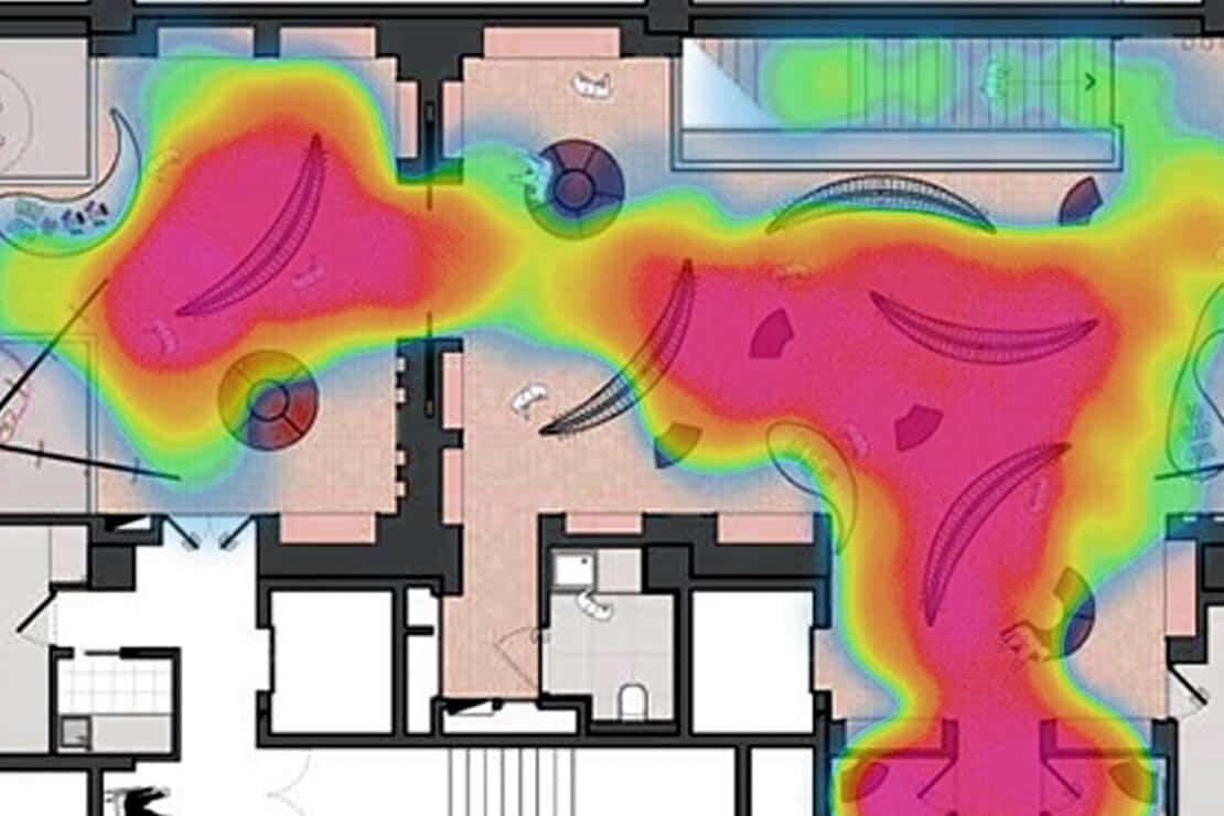 Heatmap von Nuter-Bewegungen