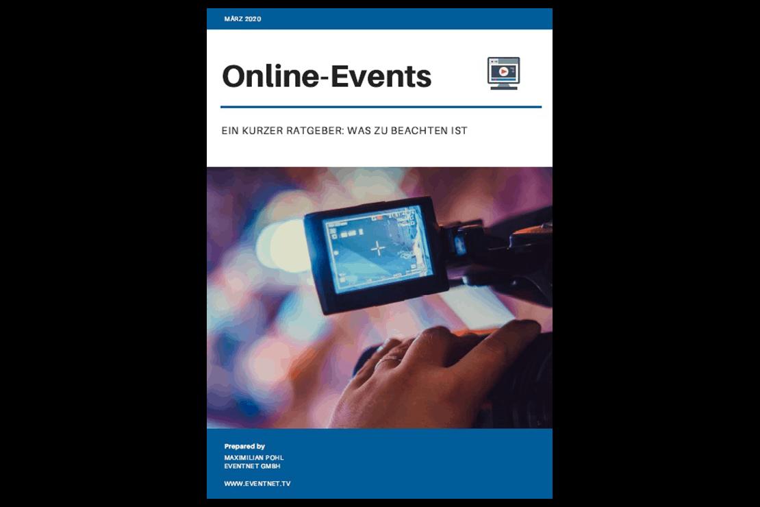 Titelseite des Eventnet-Ratgebers für Online-Events
