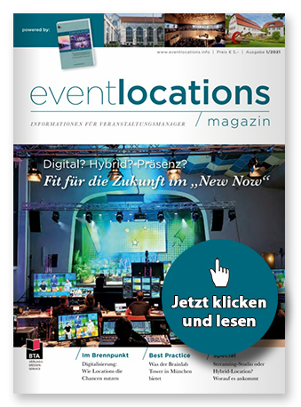 """Cover einer Ausgabe des Magazins """"Eventlocations"""""""